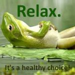 Relaxed with hypnotherapy